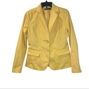 New York & Company 7th Avenue Yellow Blazer, Sz 4